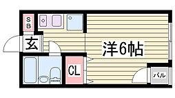 歩10番館[8階]の間取り