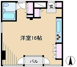 東京都文京区本郷6丁目の賃貸マンションの間取り