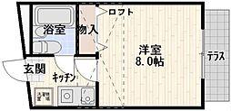 東京都杉並区下高井戸2丁目の賃貸アパートの間取り
