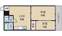 五條コーポ[303号室]の間取り