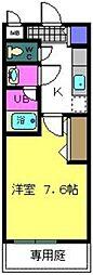 大阪府堺市北区百舌鳥赤畑町3丁の賃貸アパートの間取り