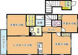 シャーメゾン則松 A棟[2階]の間取り