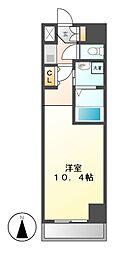 サウス名駅[6階]の間取り
