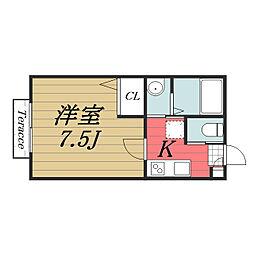 千葉県千葉市若葉区高品町の賃貸アパートの間取り