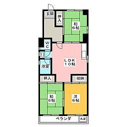 角田ハイツ[2階]の間取り
