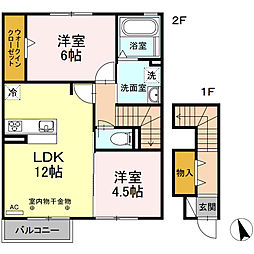 仮)D−room岐阜市芥見[2階]の間取り