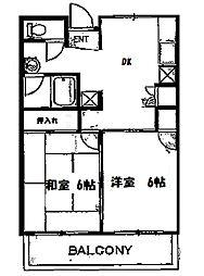 ファインコート山田[201号室]の間取り