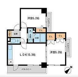 ヒルサイト&23643;風ヶ浦[103号室]の間取り