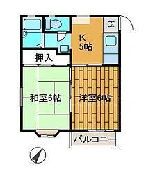 レジデンス金森2[2階]の間取り