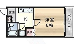 JR東海道・山陽本線 吹田駅 徒歩17分の賃貸アパート 2階1Kの間取り