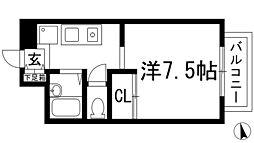メゾン綾羽[2階]の間取り