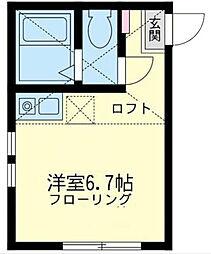 神奈川県横浜市神奈川区子安台1丁目の賃貸アパートの間取り