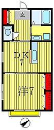メゾンドサクラ[103号室]の間取り