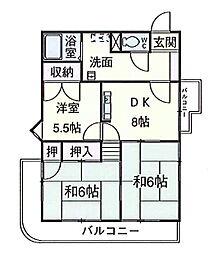 荒井第二ビル[403号室]の間取り