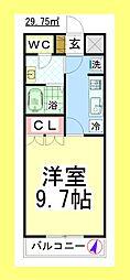 TC シャトレーン[2階]の間取り