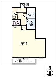 パークロイヤルヤスダ E棟[2階]の間取り