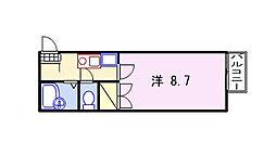 キャトルセゾン福崎[102号室]の間取り