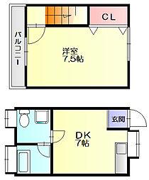テラスハウス佐々木[1階]の間取り