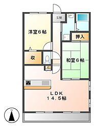 センチュリーパーク十一屋[3階]の間取り