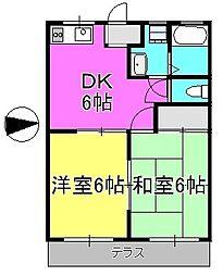 パークホーム相模[205号室]の間取り