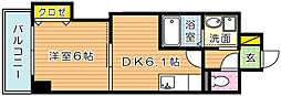 THE SQUARE Suite Residence[4階]の間取り