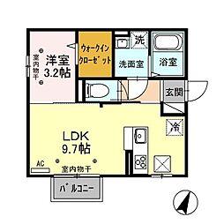新潟県新潟市中央区新和1丁目の賃貸アパートの間取り