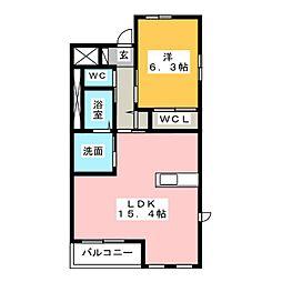 Sユニヴァリィ高塚町(仮)[2階]の間取り