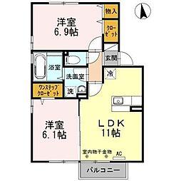 メゾン・エスポワールA[2階]の間取り