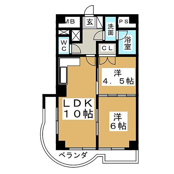 メゾン・エトワール[5階]の間取り