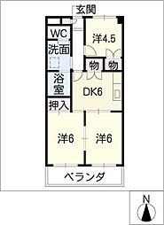 第3サンヨーマンション[2階]の間取り