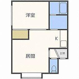 シュウハイツ24[2階]の間取り