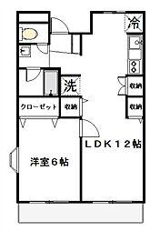 ハネラックハイツ[2階]の間取り