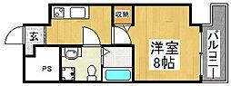 ラシーヌ宿院[12階]の間取り