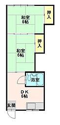 コーポ鎌田[06号室]の間取り