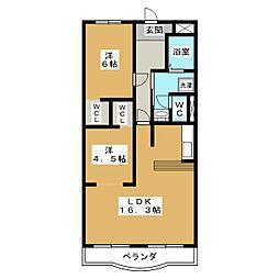 丸ニサンハイツ[2階]の間取り