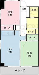 千葉県浦安市富士見2の賃貸マンションの間取り