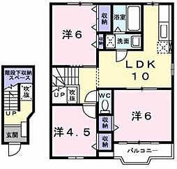 リス・メゾン B棟[2階]の間取り