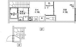 JR中央本線 西荻窪駅 徒歩8分の賃貸アパート 2階1DKの間取り