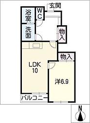 チェリーハウス[1階]の間取り