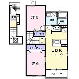 ショコラ3[2階]の間取り