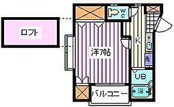 埼玉県さいたま市南区辻4丁目の賃貸アパートの間取り