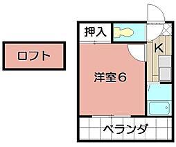 エクセレント藤井[102号室]の間取り