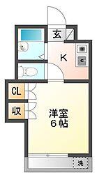 埼玉県朝霞市三原3の賃貸アパートの間取り