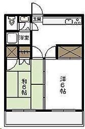 第2押川コーポ[201号室]の間取り