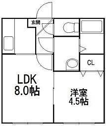 ヒールコート[3階]の間取り