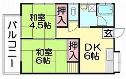緑が丘アパート[1階]の間取り