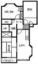 翠ヶ丘六番館[101号室]の間取り