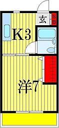 千葉県船橋市三山9丁目の賃貸アパートの間取り