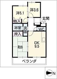 シティマンション大崎[3階]の間取り