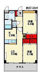 仮)若松区今光新築アパート[2階]の間取り